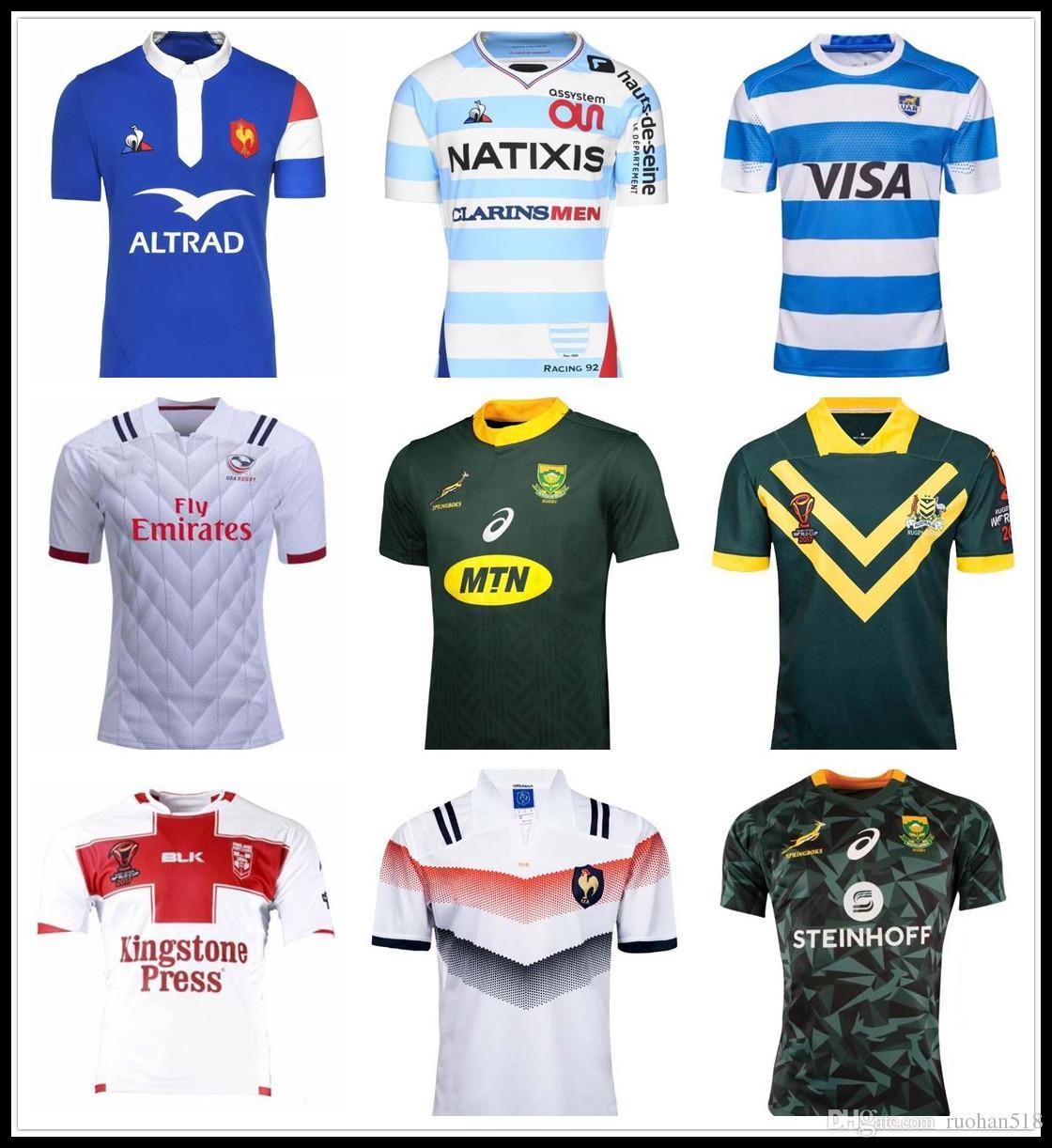 7c462d26d4 Compre Camisa De Rugby 2018 France 2017 2018 Kiwi Rugby Tonga Camisas SAMOA  Kiwis Rugby League Austrália Irlanda África Do Sul Camisas De Ruohan518