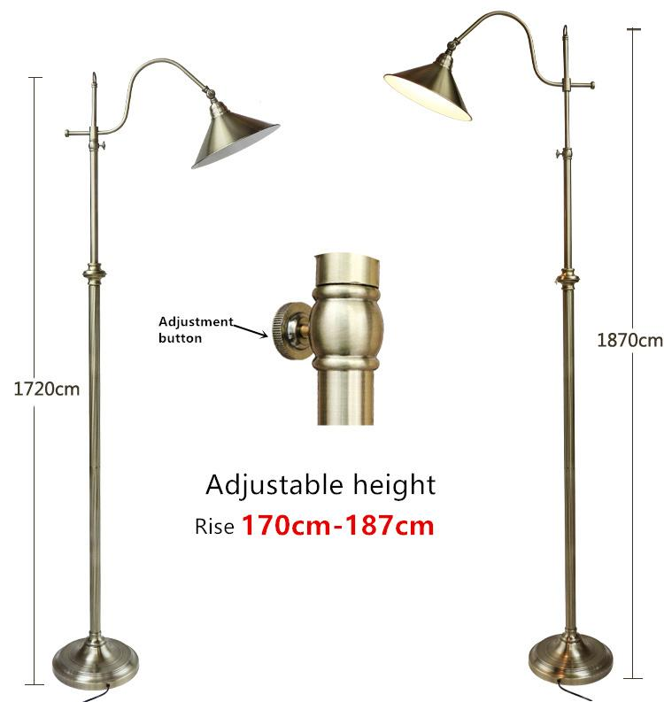 2018 Nordic Retro Lamp Creative Copper Floor Lamp Adjustable Height 172 187  Cm Decoration Creative Floor From Fried, $234.31 | Dhgate.Com
