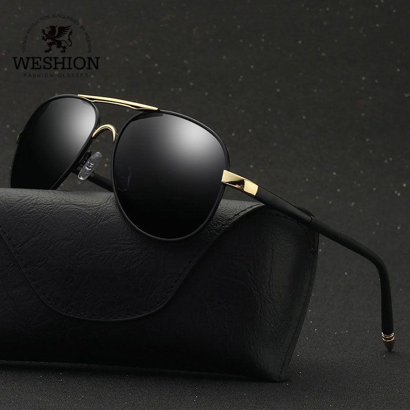 Compre Gafas De Sol Piloto Weshion Hombres Oval Polarizado Diseñador De La  Marca Retro Shades Gafas De Sol Classic Driving 2018 Uv400 Zonnebril Mannen  A ... df3d953c6223