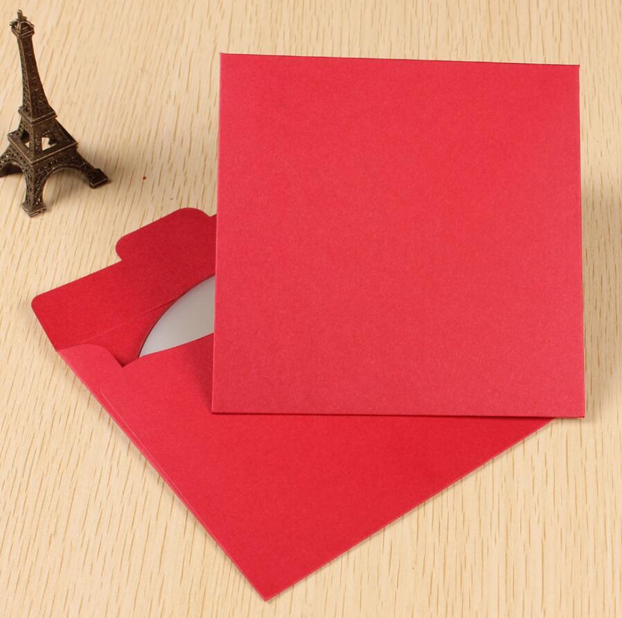 5.30 Red Paper Cd Sleeves Packaging Box Invitation Card Envelope For ...