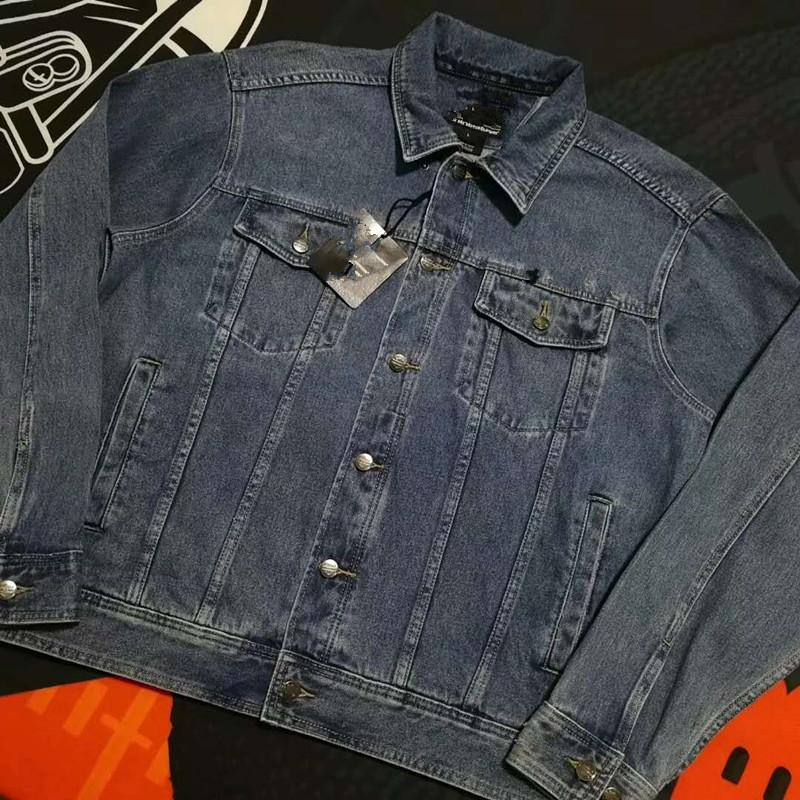 2018 MenMotorcycle Knight Rider Jeans Denim Jacket US size ONLY plus size  Brother weight over 100kg