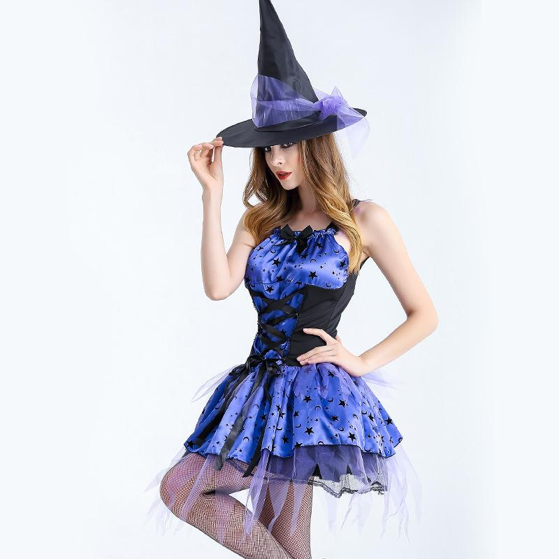 2018 Special Offer Real Tv U0026 Movie Costumes Women Halloween Purple Witch  Plays Costume, Magician Plays, Witch, Costume Suit, Crazy Play Best  Halloween ...