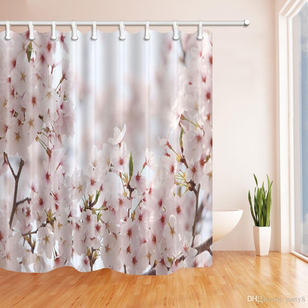 Beautiful Flower Landscape Creativity Fashion Shower Curtain 70 X In Mildew Resistant Waterproof Polyester Decoration Hanging Curtains UK 2019 From
