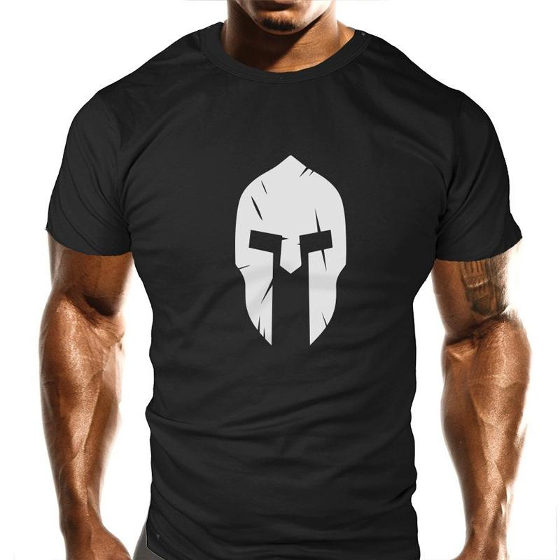 spartan t shirt  New Spartan T-Shirt Bodybuilding Casual Loose Fit Top Funny T Shirt men  2018 new fashion male brand tops clothing