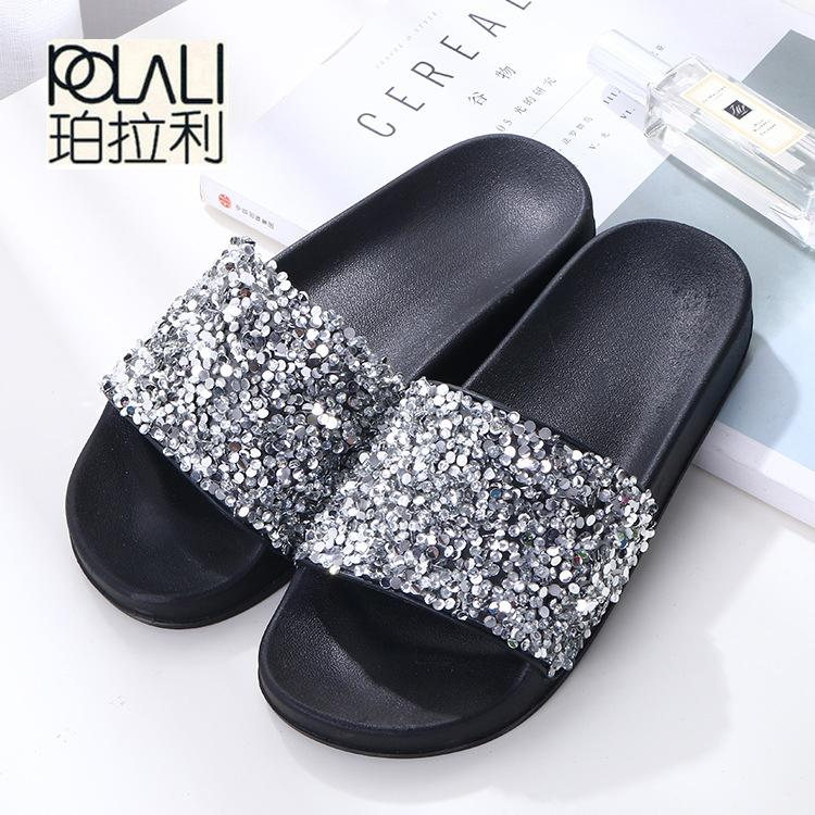 e0fc9c7e7 POLALI 2018 Women Summer Home Slippers Flip Flops Peep Toe Sandals Glitter  Sandals Platform Ladies Shoes Zapatos Mujer Shoes Uk Platform Boots From  Kingless ...