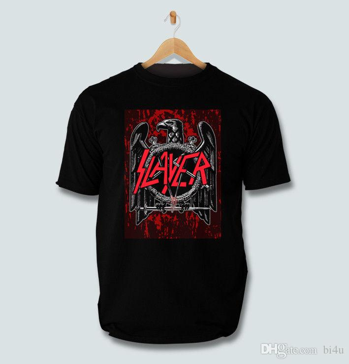 003f8ea01333 Slayer Amunition Eagle Metal Rock Band Black / White T SHIRT Size S To 3XL T  Shrt Fun T Shirt From Bi4u, $13.08| DHgate.Com