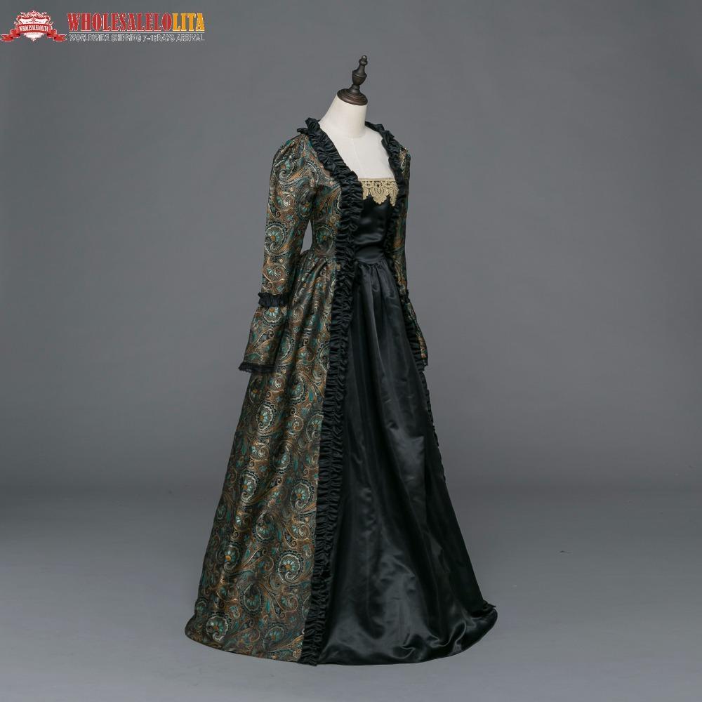 cc4907b99 Compre Vestidos Medievales De Período Gótico Vestido De Vestir De Brocade  Vestido De Steampunk Reconstrucción Ropa De Mujer A  172.12 Del Redbud01