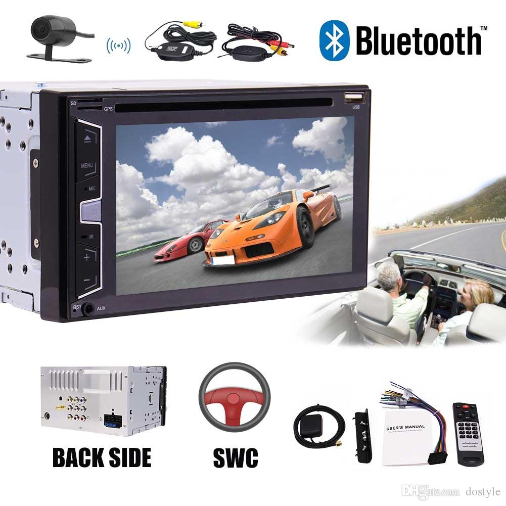 In Deck Double Din 6.2'' Car Stereo Bluetooth USB SD Radio Audio Car DVD  Player 2Din Headunit Automotive System Subwoofer Video out Double Din Car  Stereo ...