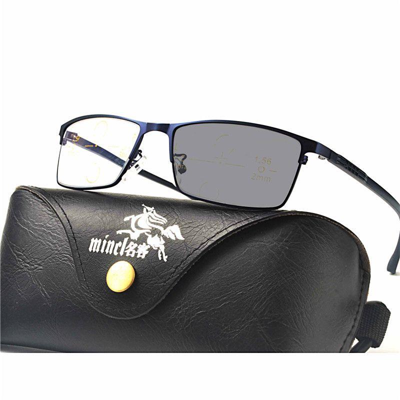 5472fe96a4 Compre Cristales Progresivos Multifocales Gafas De Sol De Transición Gafas  De Lectura Fotocromáticas Hombres Puntos De Lectura Cerca De La Visión  Lejana FML ...