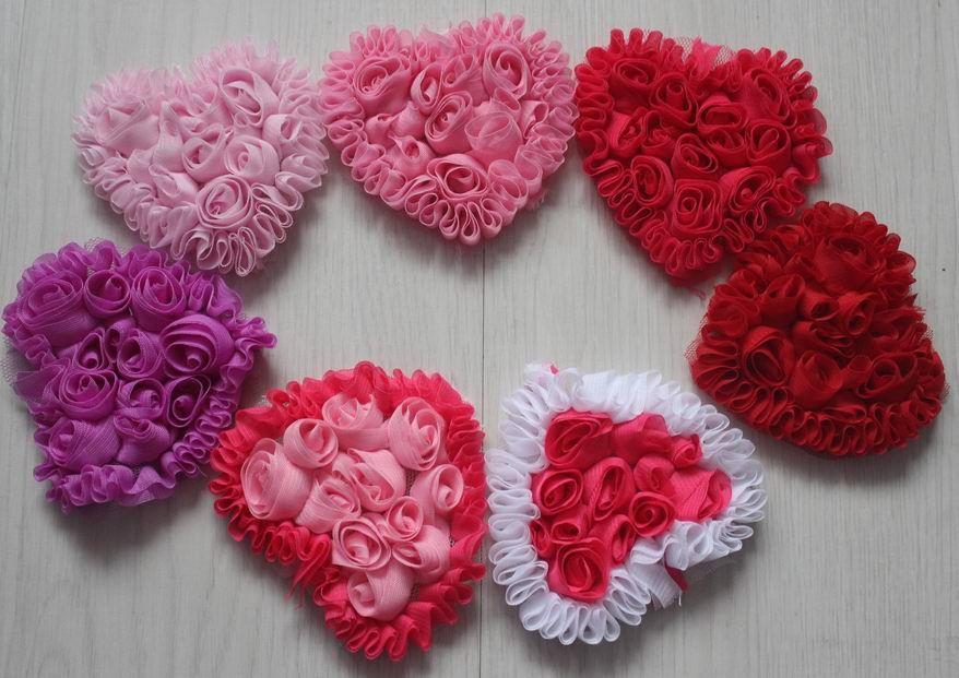 Valentine love heart applique crochet pattern easy crochet patterns