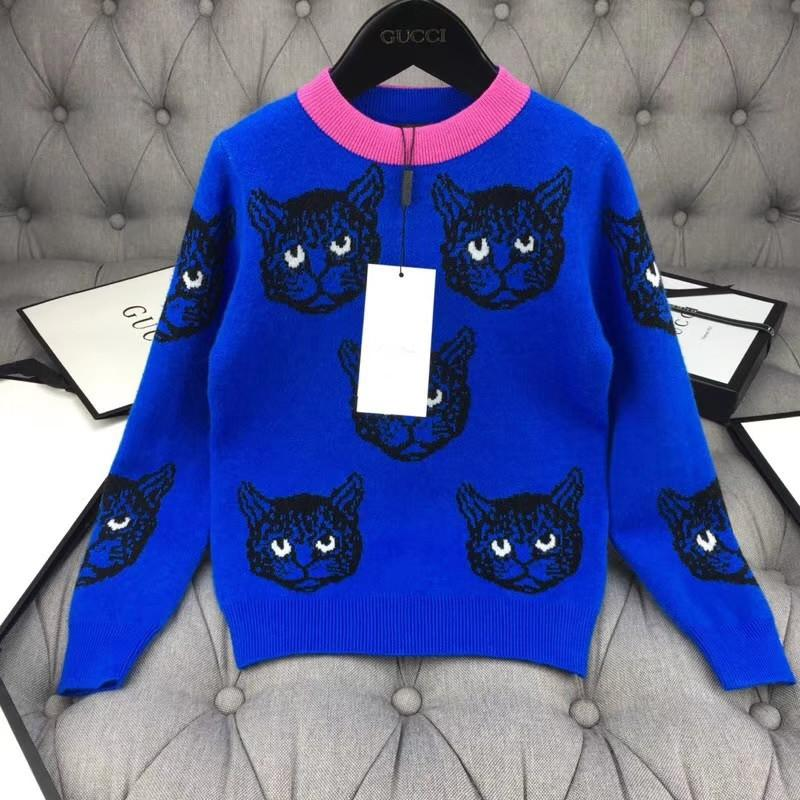 a2275ce87 Chuchu 2018 Autumn Hot Sale Girls Long Style Sweater Cat Printing All Match  Children Dresses Pure Cotton High Quality Pullover Brand Baby Boy Sweater  ...