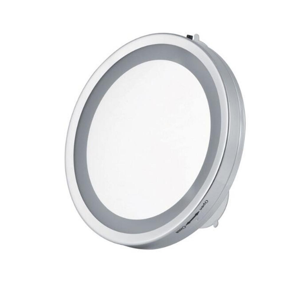 3 Times Makeup Mirror Shaving Mirror Glass Vacuum Suction Cup Led