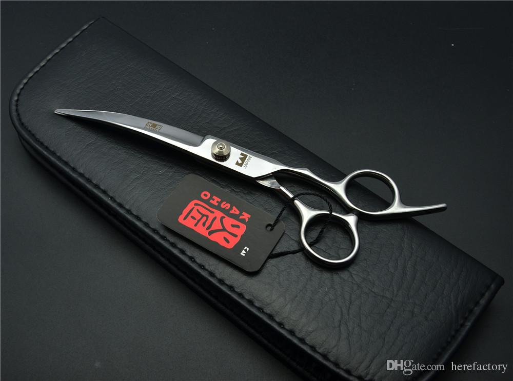 H4001 6inch 17.5cm Japan Kasho Professional Pets Hair Scissors Dog Flur Clipping Shear Down Curved Cutting Shears Scissors for Dog Grooming