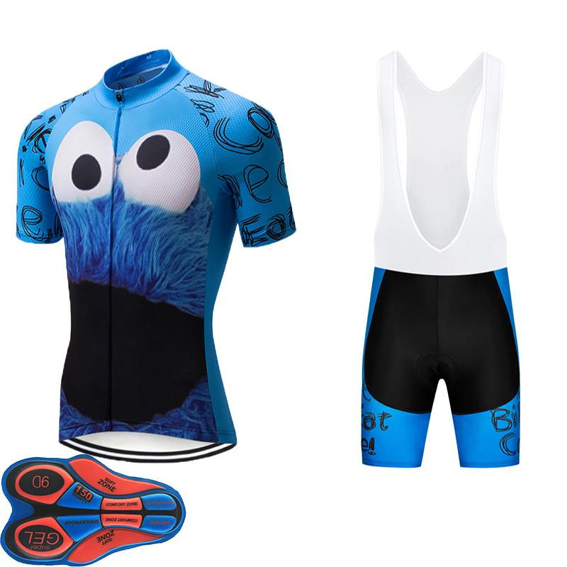 2019 Cartoon Team Cycling Jersey 9D GEL PAD Bike Shorts Set MTB Mens ... 26f1a4acc