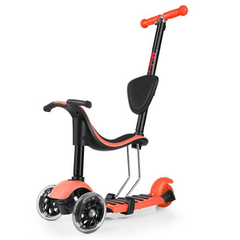 02968c8a24d3 Compre 4 En 1 Niños Scooter 3 Ruedas Scooter Con Luz Hasta Rueda Grande Patinete  3 Rodas Con EN71 A $144.85 Del Hongmihoutao | DHgate.Com