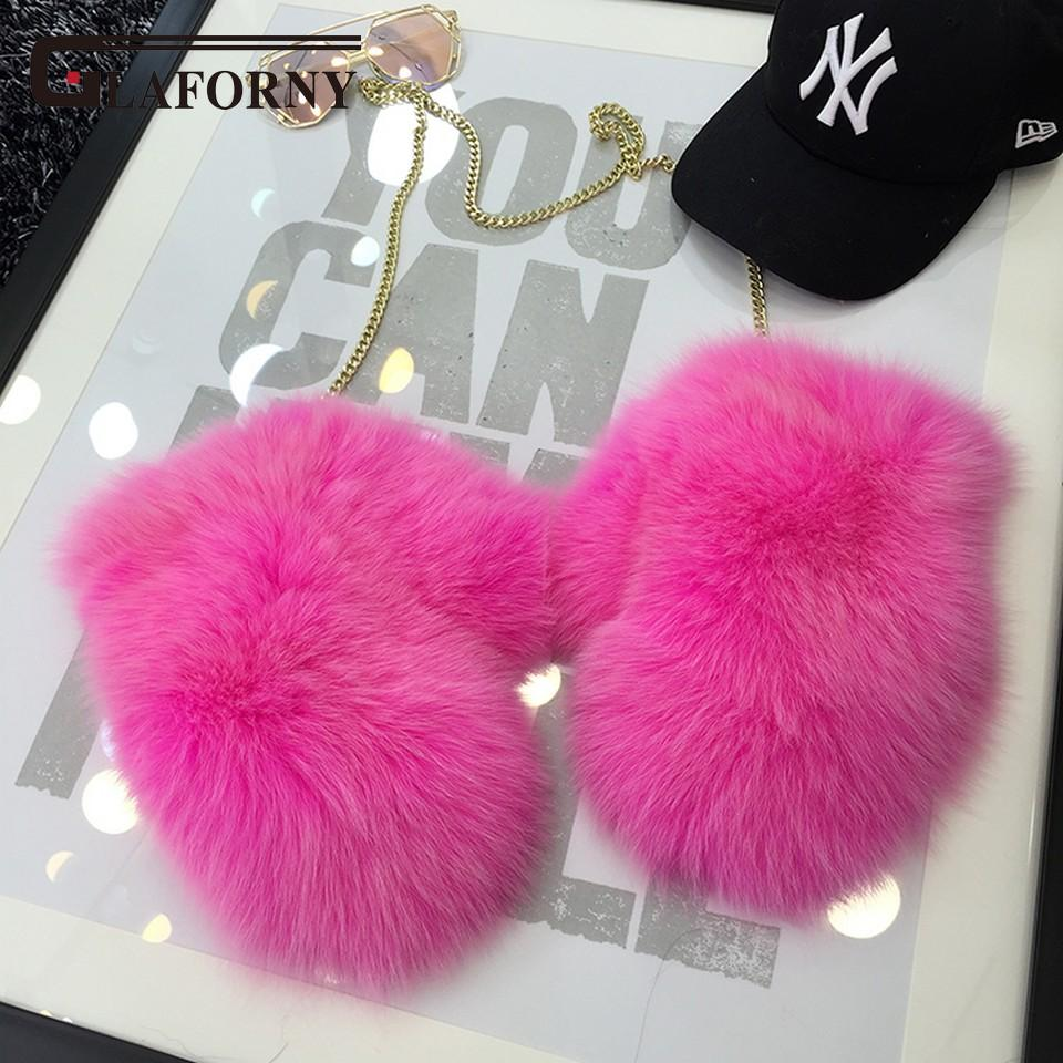 Fur Gloves 2017 New Women Luxury enuine Fur Glove For Great Solid With Strap Russian Guantes Women's Winter Gloves