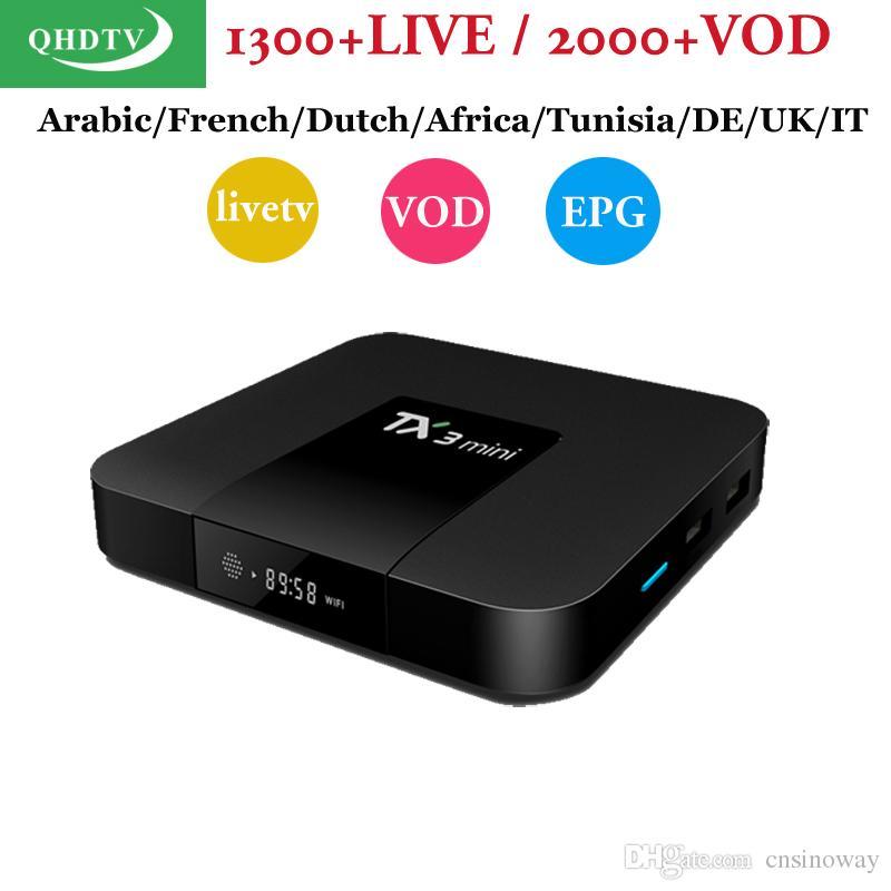 Iptv Box TX3mini S905W With Arabic IPTV code QHDTV Support France Dutch  Africa Turkey Italy UK European VOD EPG TV Channels