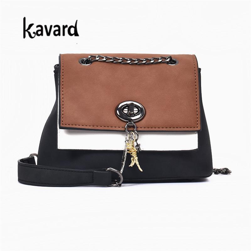4550b36e06e4 Kavard Women Messenger Bags Small Female Shoulder Crossbody Bags High  Quality Luxury Handbags Women Chains Lock Bag Designer Sac Designer  Crossbody Designer ...