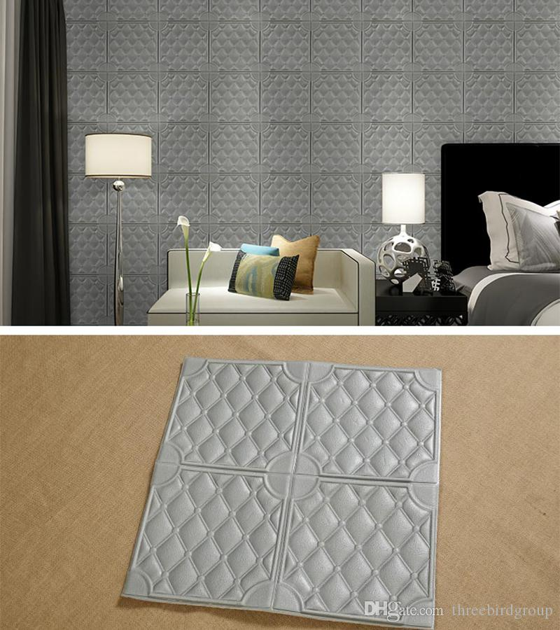 3D Wall Wallpaper Self-Adhesive Wall Sticker Brick PE Foam DIY Sticker Soundproofing Wallpaper for Home Room Bedroom Office Hotel Resturant