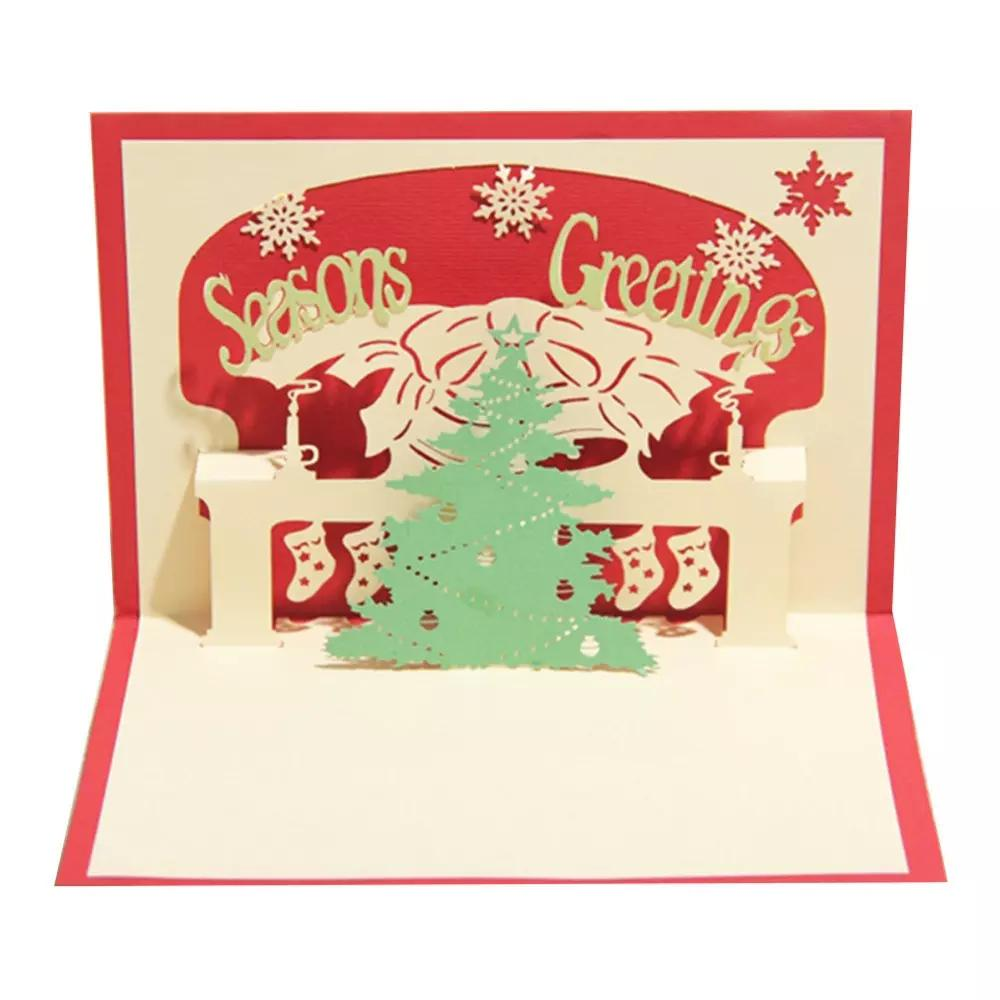 Handmade Christmas Tree Design Merry Christmas Cards Creative