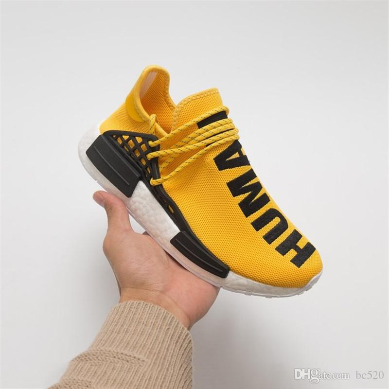the latest 36474 9891f Compre 2018 Adidas Human Race NMD NUEVO Pharrell Williams Human RACE HU NMD  Trail Hombres Diseñador Deportes Correr Zapatos Para Hombres Zapatillas De  ...