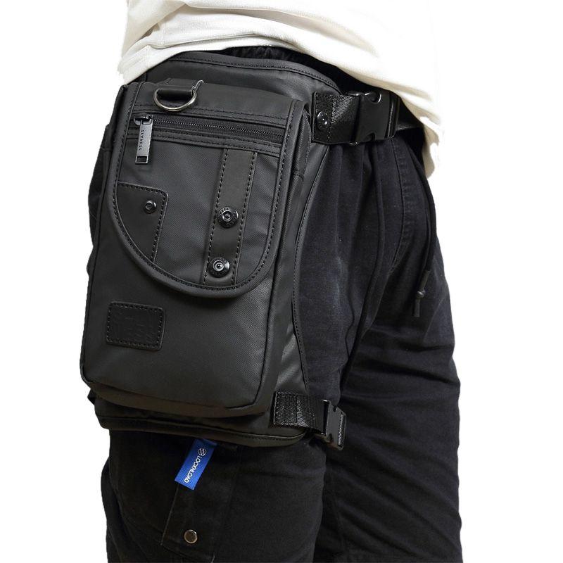 Acheter Imperméable Nylon   Toile Hommes Taille Pack Bum Hip Ceinture Poche  Moto Rider Messenger Épaule CrossBody Fanny Drop Jambe Sacs De  33.05 Du ... d969a727f02