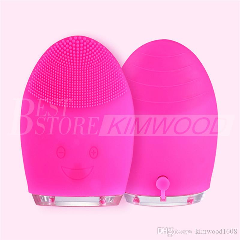 2018 New Electric Face Cleanser Vibrate Pore Clean Silicone Cleansing Brush Massager Facial Vibration Skin Care Spa Massage