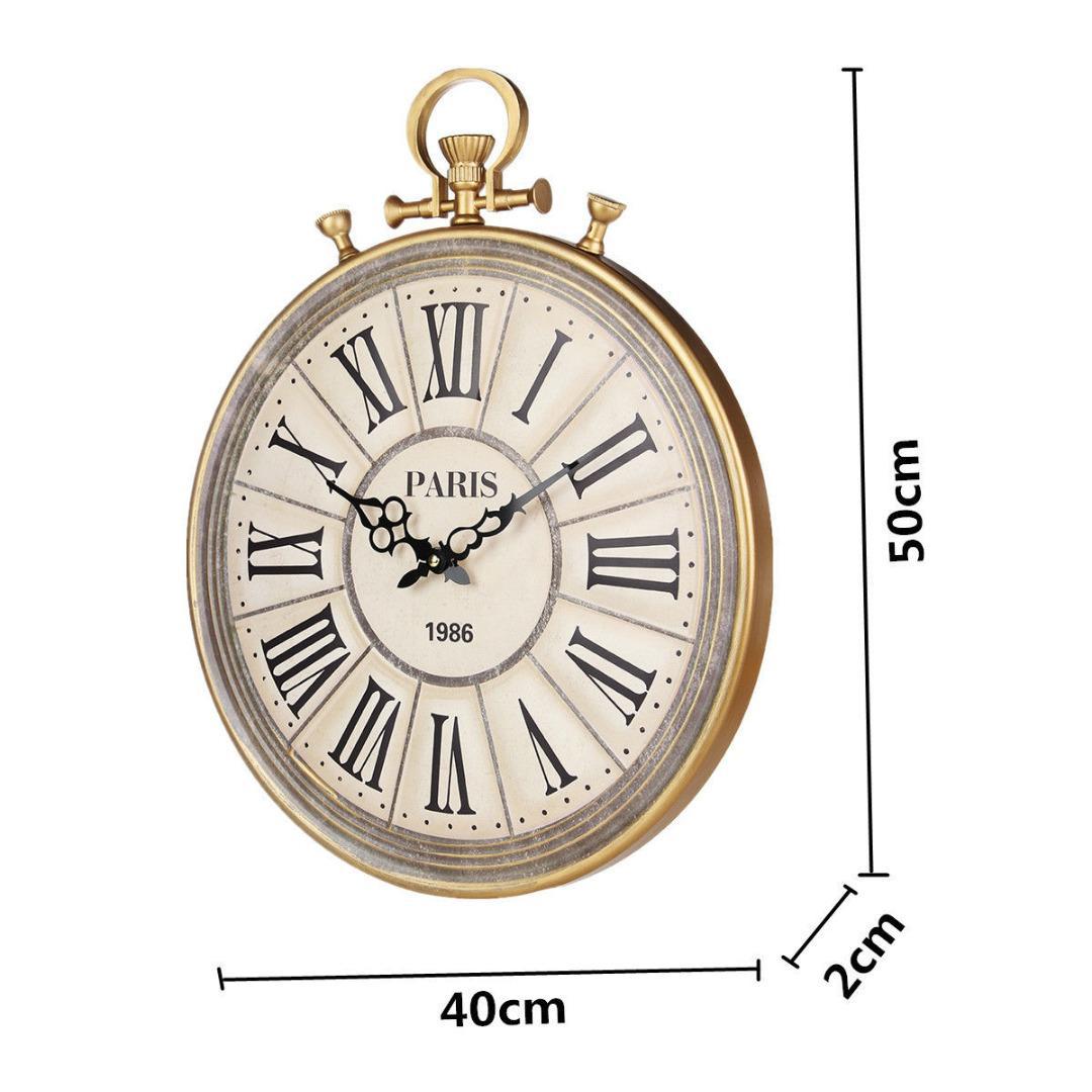 d54803e20e1 Acheter 50 Cm Vintage Rétro Horloges Montre De Poche Style Horloge Tenture  Murale Grande Horloge Murale Pour Salon Cuisine Décoration Minuterie De  $65.7 Du ...