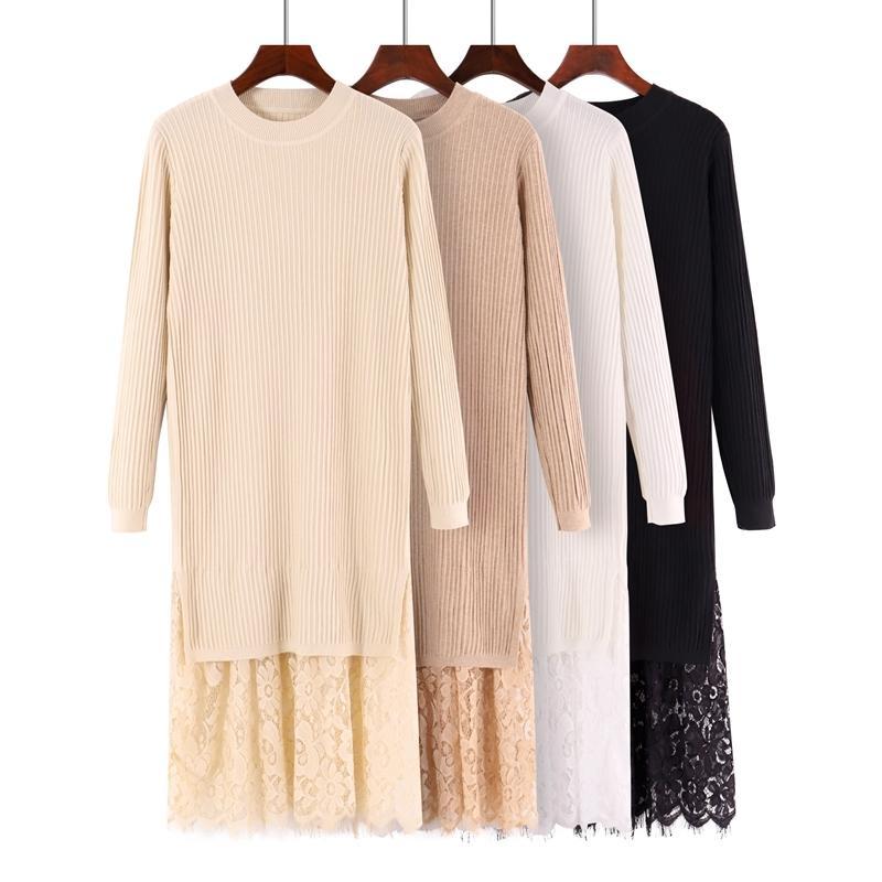 317183ef45a918 Großhandel Gigogou Lange Frauen Herbst Winter Pullover Pullover Mode  Gestrickte Spitze Lässige Pullover Weiche Warme Weibliche Pullover  S18100902 Von ...