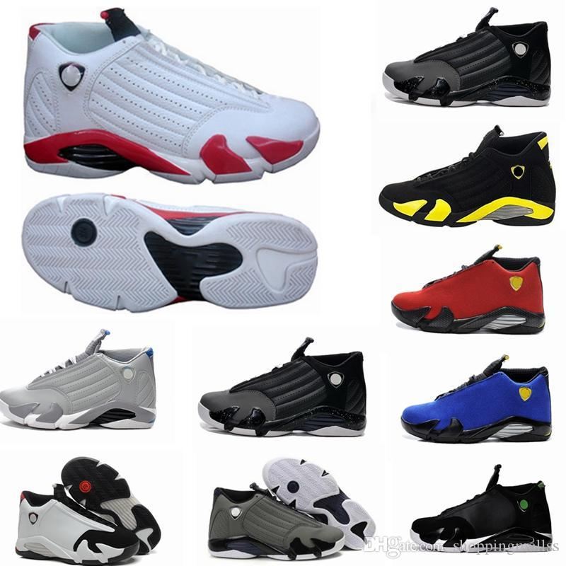 3b9ca9b110d8a2 2019 14 XIV Oxidized Green Indiglo Thunder Playoffs Black Toe Red Suede 14s  Men Basketball Shoes Sneaker Last Shot Sport Shoes From Shoppingmallss