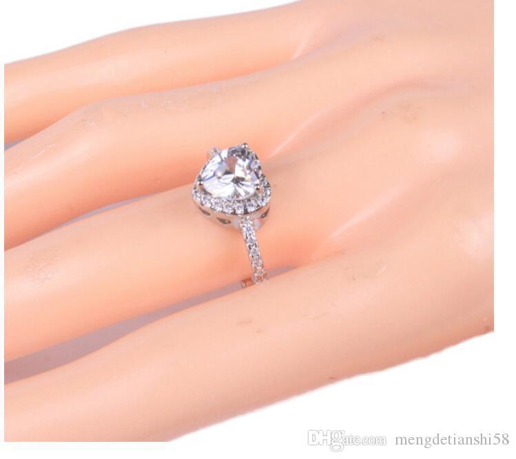 c5ddbea82256 Moda, creatividad, amor, anillos en forma de corazón, circonitas, regalos  del Día de San Valentín, anillos de los amantes.