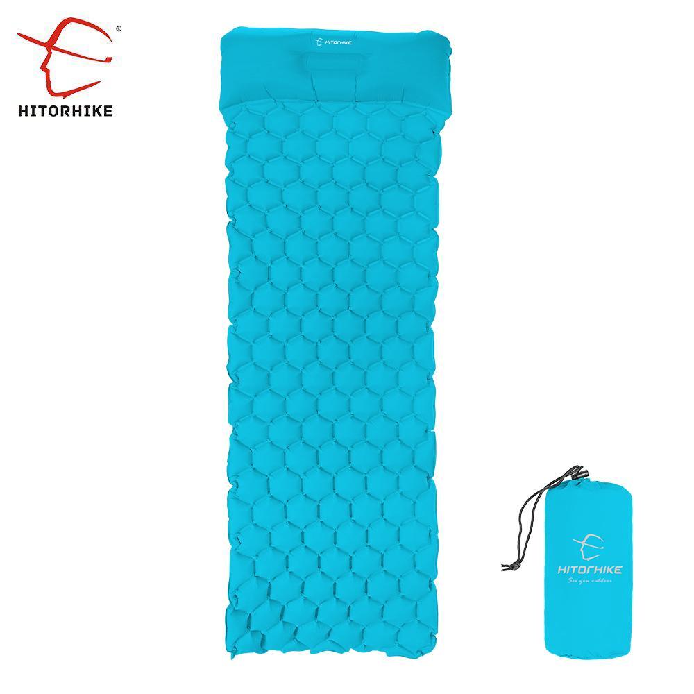 inflatable sleeping pad camping mat with pillow air mattress cushion
