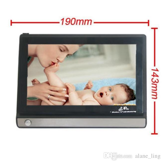 Yeni 2.4G Kablosuz Bebek Monitörü Renkli A / V Güvenlik Kamerası 7 inç TFT LCD Monitör Ile profesyonel
