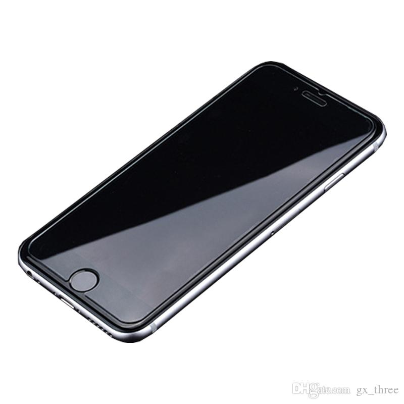 0.26mm iphone 8 temperli cam ekran için premium kalite koruyucu iphone x 6 s edition filmi 2.5d 9 h anti-paramparça kağıt paketi