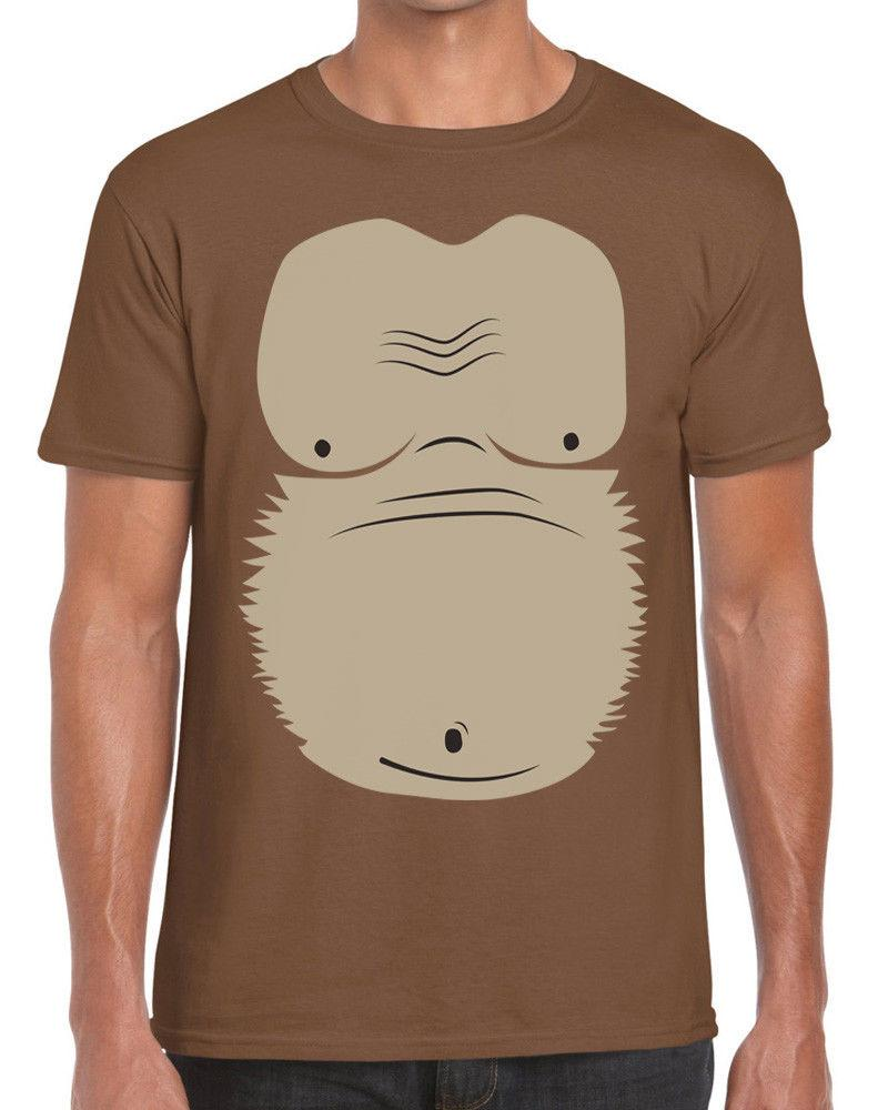 Ape Belly Monkey Costume Fancy Dress Lazy Halloween T Shirt - Funky NE Ltd ®Funny free shipping Unisex tee