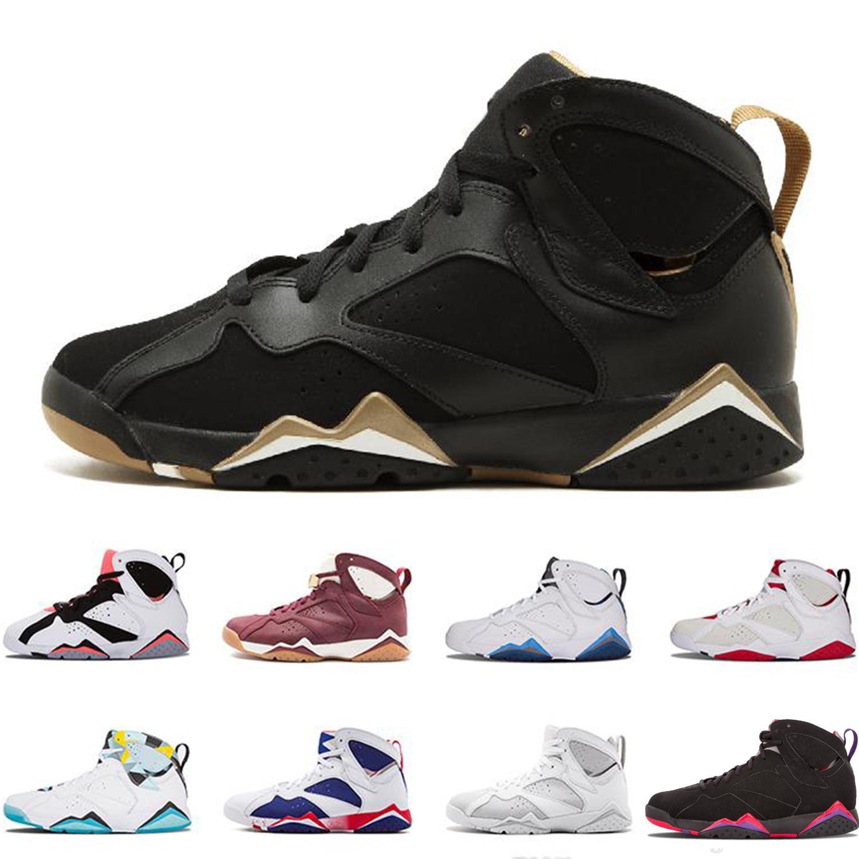 898c4ec41ffe Hot Sales 7 7s Men Basketball Shoes UNC Pantone University Blue ...