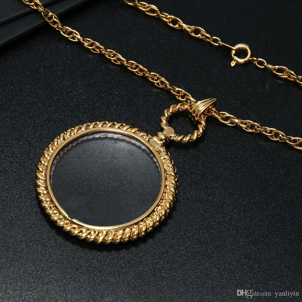 New round shape Magnifying glass necklace simple design magnifying glasses for reading men fashion Magnifier