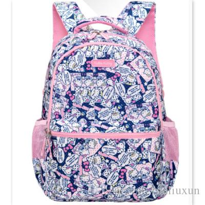 ... official photos 7dc36 72598 Hello Kitty School Bag For Primary Girls  Grade 1 3 6 Shoulder ... feec5fbcc6bb7