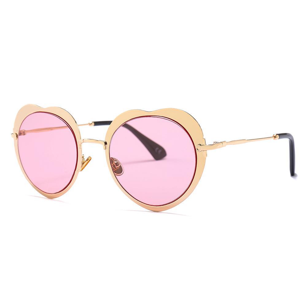 Love Heart Shaped Sunglasses Fashion Brand Retro Women Sun Glasses Metal  Frame Gafas Shades For Lady Vintage Eyewear UV400 Sunglasses Hut Reading  Glasses ... 985450cc5
