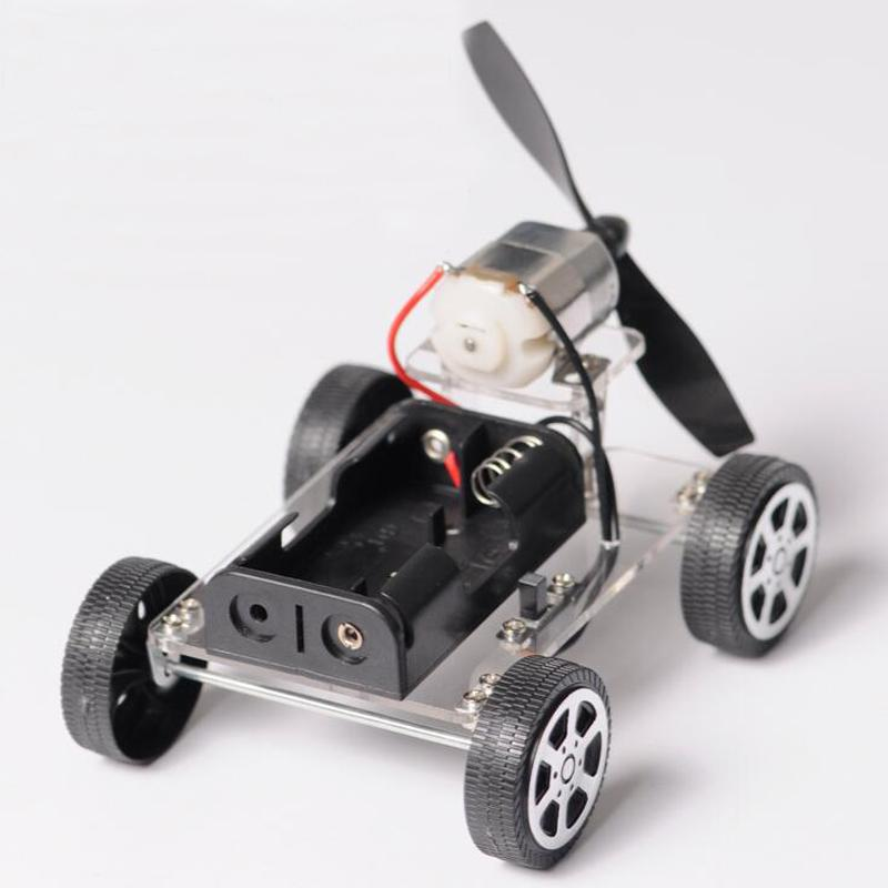 Craft DIY Car Amusin Mini Wind Trolley Technology Making Small Invention Material Package Puzzle Toy Car With Propeller Gift 90# Wholesale