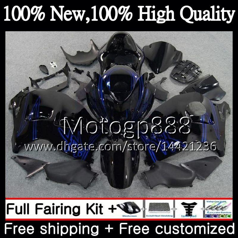 Karosserie für SUZUKI Hayabusa blau schwarz GSXR1300 96 07 2002 2003 2004 56PG44 GSX R1300 GSXR-1300 GSXR 1300 2005 2006 2007 Verkleidung Karosserie