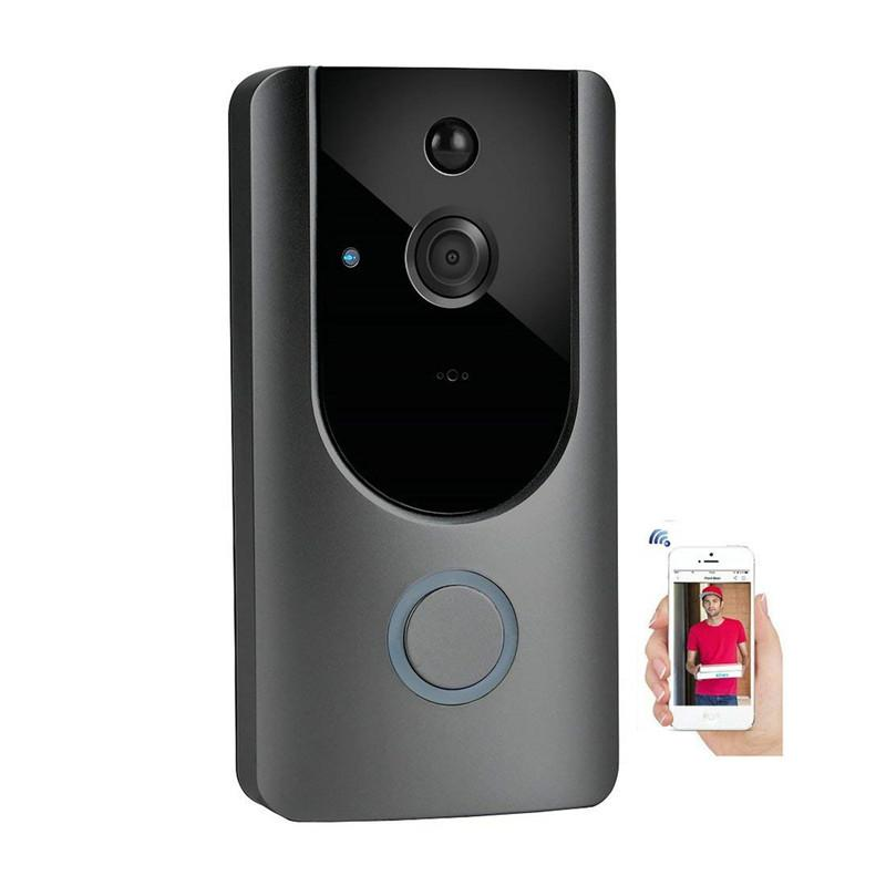 HD 720P Wireless WIFI Video Doorbell HD Intercom Visible Monitor Night Vision Intelligent Doorbell PIR Motion Detection Remote Control