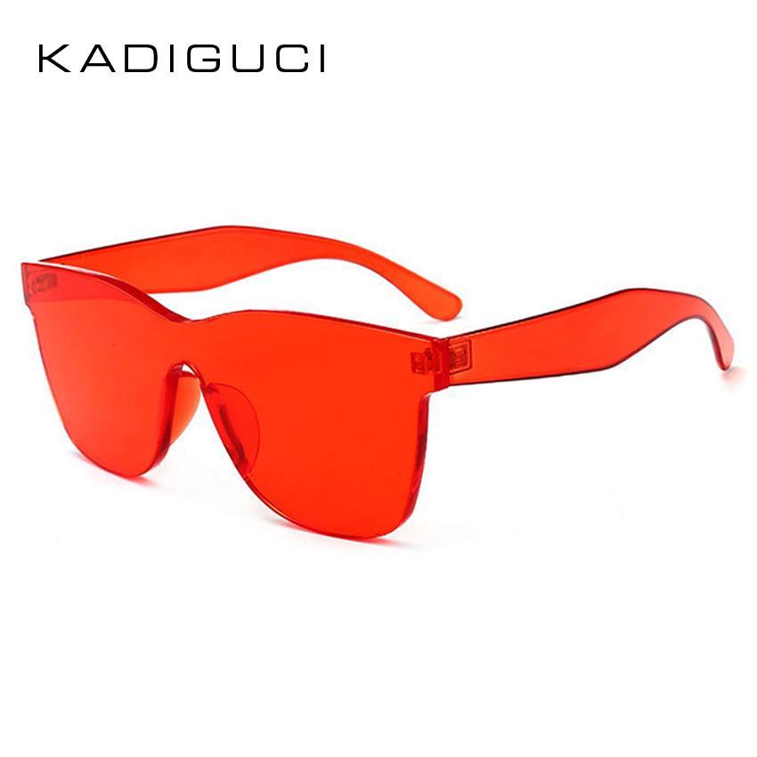 605fccad78f11 KADEGUCI NEW Square Women Sunglasses 2018 Brand Designer Fashion Rimless  Sun Glasses Men Goggles Candy Color Shades UV400 K196 Polarized Sunglasses  ...