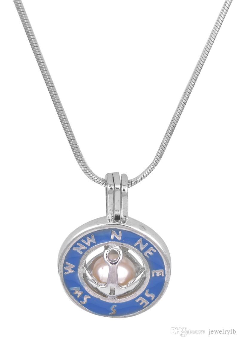 18kgb nuovo design collana di perle ciondolo perla gabbia pendenti medaglioni di ostriche fai da te amore amore collana pendente gioielli p93