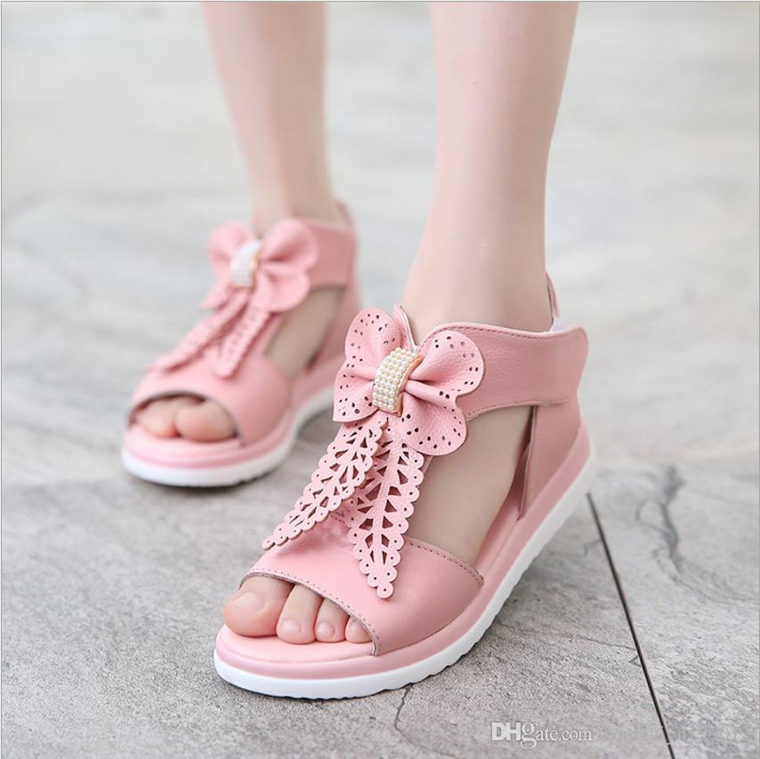 83cfa4e2fa18 2018 Spring New Sandals Leather Children Children Kids Sandals ...