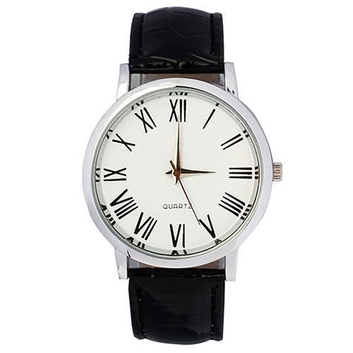 Men Casual Business Roman Numerals Faux Leather Strap Analog Quartz Wrist Watches relogio montre homme orologio uomo