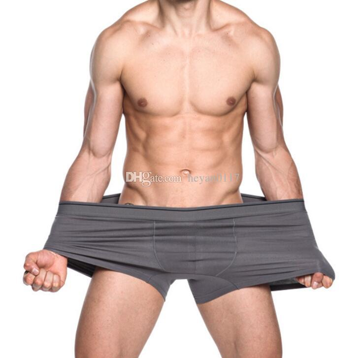 2b2db51047ada Compre Marca Masculina Boxers Nova Moda Sexy De Alta Qualidade De Algodão  Boxers Shorts Mr Underpant Cueca Homem Grande Tamanho Cueca Gordura 6XL De  ...