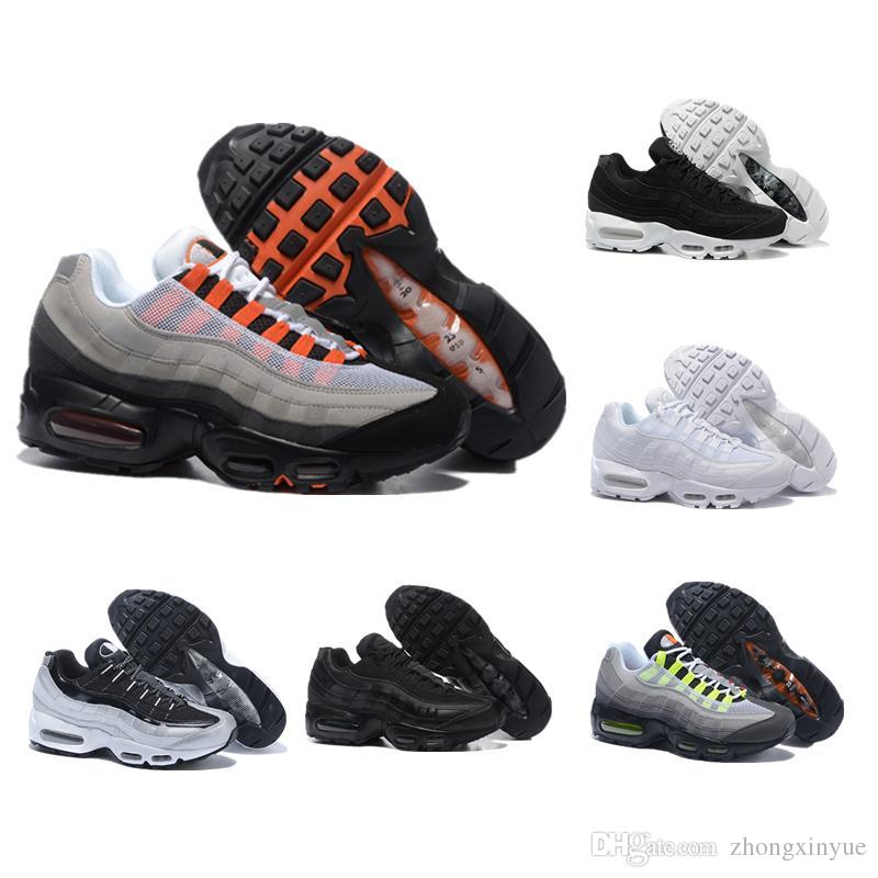 97936cfeab 2018 Hot Sale 95 95s White Grey Running Shoes Black Gold Red Men ...