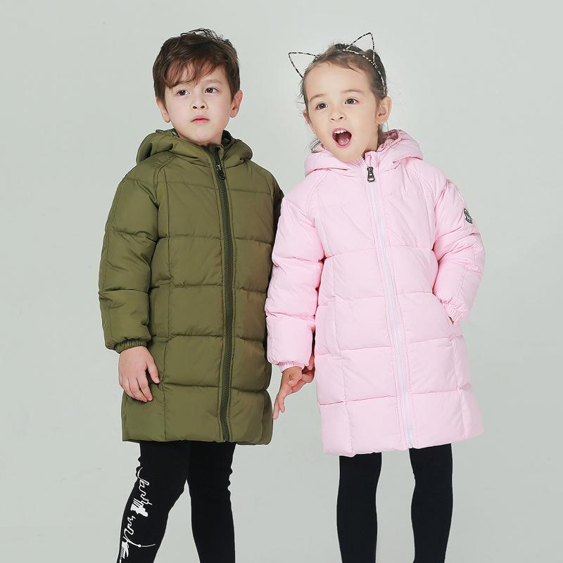 c5f4acb86 90% White Duck Down Jacket Children Autumn Winter Casual Warm Coat for 1-5Y  Kids Baby Girl Boy Ultralight Hooded Windproof Parka