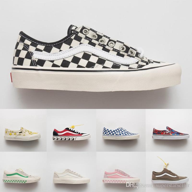 57ee34ddc5 Acquista Vans Old Skool 2018 New Marvel Classic Old Skool Slip On Scarpe Di  Tela Da Donna Designer Brand Uomo Sneakers Da Donna Scarpe Da Ginnastica  Low ...